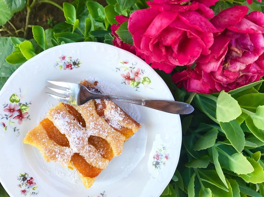 Marillenkuchen mit Zutaten vom eigenenHof